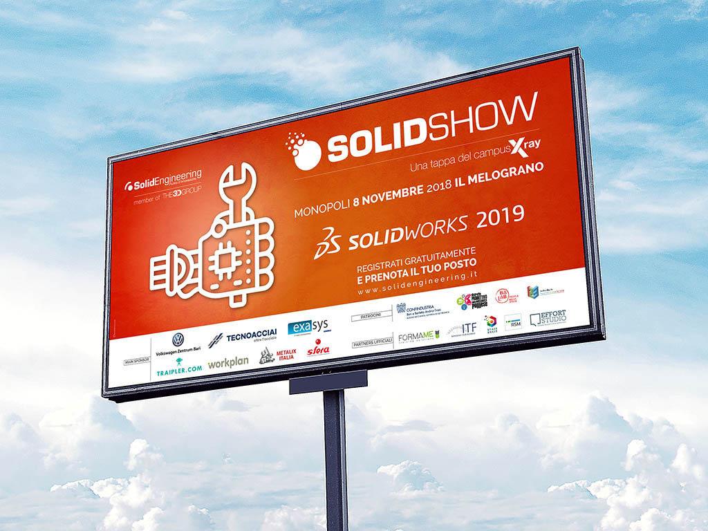 campagna pubblicitaria dell'evento Solidshow 2018 per solidengineering-easy-d-rom