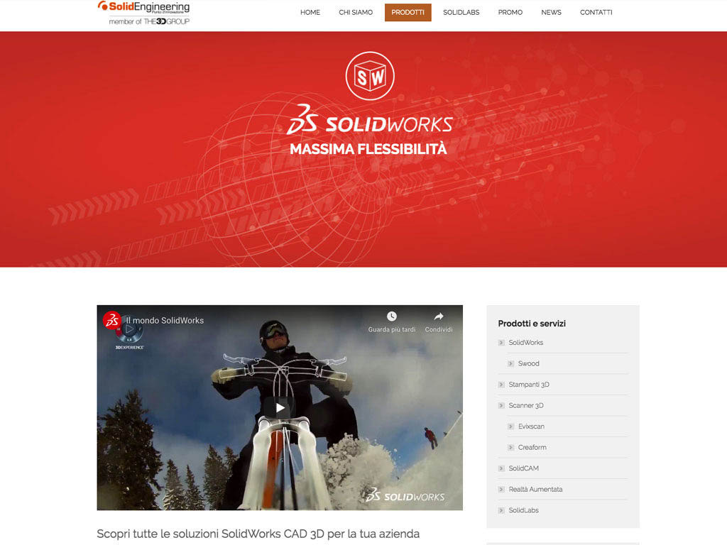 realizzazione sito internet solid engineering - web site solid engineering-solidworks