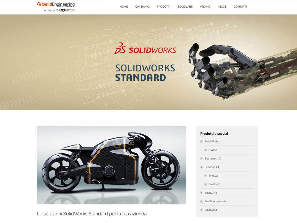 realizzazione sito internet solid engineering - solidworks standard