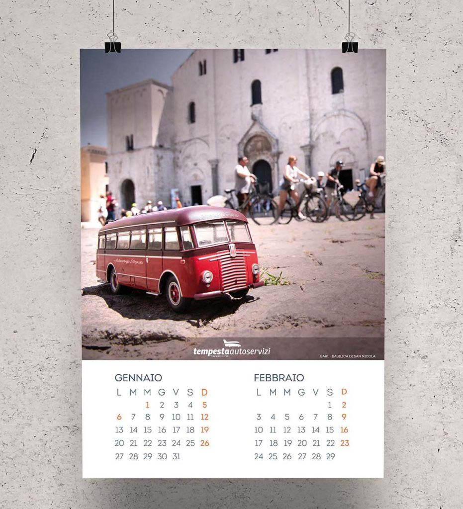Shooting fotografico per calendario 2020 Autoservizi Tempesta - Basilica San Nicola di Bari