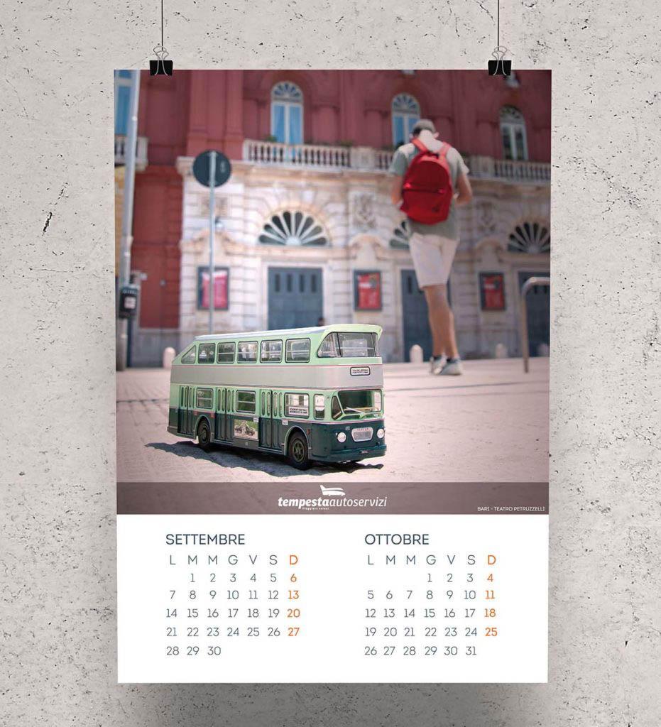 Shooting fotografico per il calendario 2020 Autoservizi Tempesta - Teatro Petruzzelli-Bari