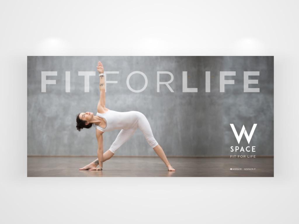 fit for life - campagna di comunicazione per wspace-villa camilla