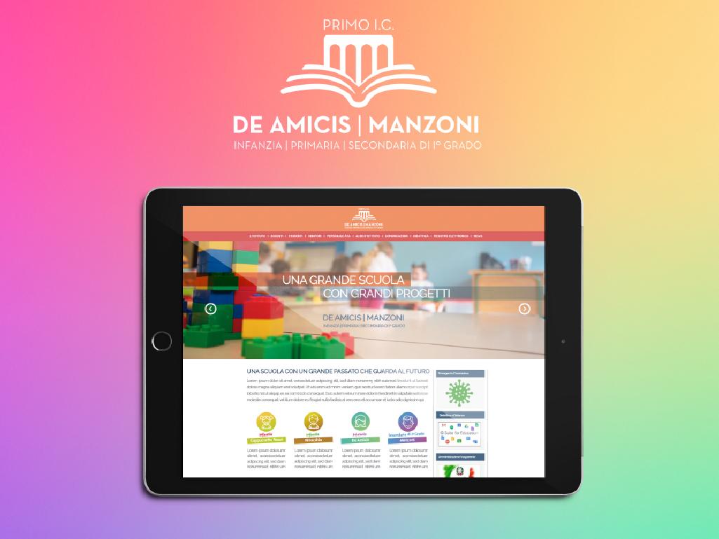 """sito internet Istituto Comprensivo """"De Amicis-Manzoni"""" di Massafra"""