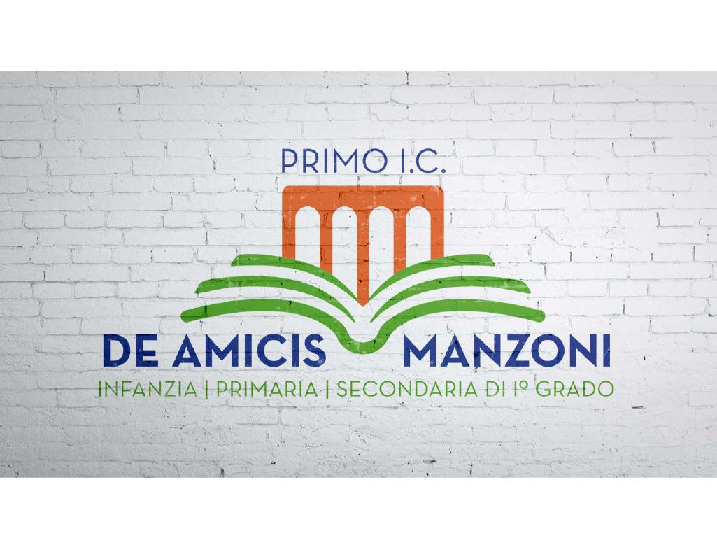 """logo wall Istituto Comprensivo """"De Amicis-Manzoni"""" di Massafra"""